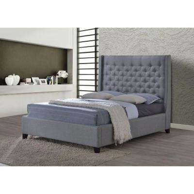 Huntington Gray King Upholstered Bed