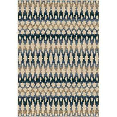 Vibrant Ikat Multi 7 ft. 8 in. x 10 ft. 10 in. Indoor/Outdoor Area Rug