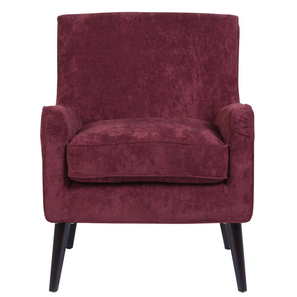 Kristina Purple Mid-Century Modern Accent Chair