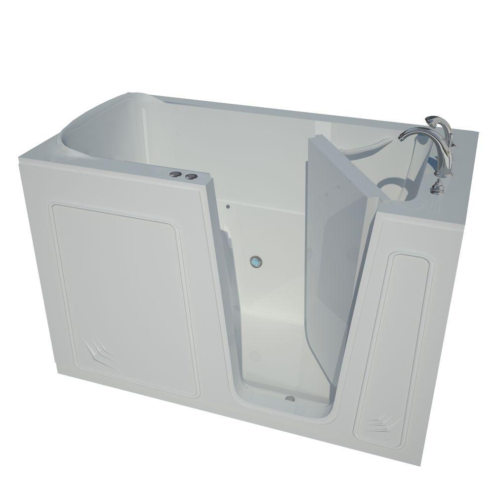 Universal Tubs 5 ft. Right Drain Walk-In Whirlpool Air Bath Tub in White