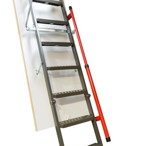 Fakro Lmp 12 Ft 22 5 In X 56 5 In Insulated Steel Attic Ladder With 350 Lbs Maximum Load Capacity 869331 The Home Depot
