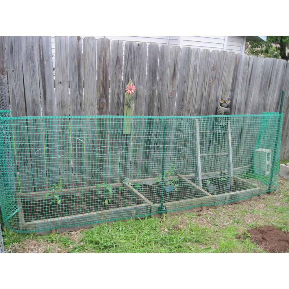 Boen 40 In X 25 Ft Green Plastic Garden Fence Gf 50001 The