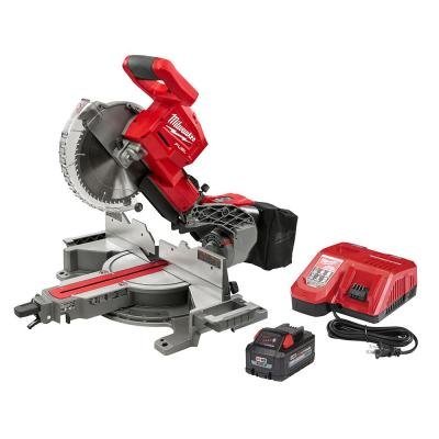 Milwaukee M18 Fuel 18-Volt 10 in. Lithium-Ion Brushless Cordless Dual Bevel Sliding Compound Miter Saw Kit w/ One 8.0 Ah Battery