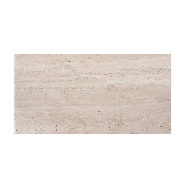 Travertine Beige 6 in. x 12 in. Honed Travertine Wall and Floor Tile (1 sq. ft./Pack)