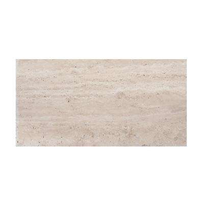 6 in. x 12 in. Honed Travertine Field Wall Tile (2-pieces/pack)