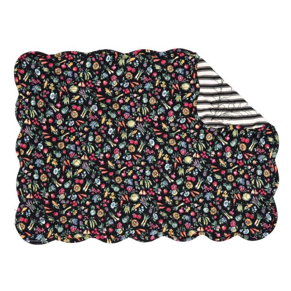 C&F HOME 13 in. x 19 in. Blacks Cotton Janelle Placemat