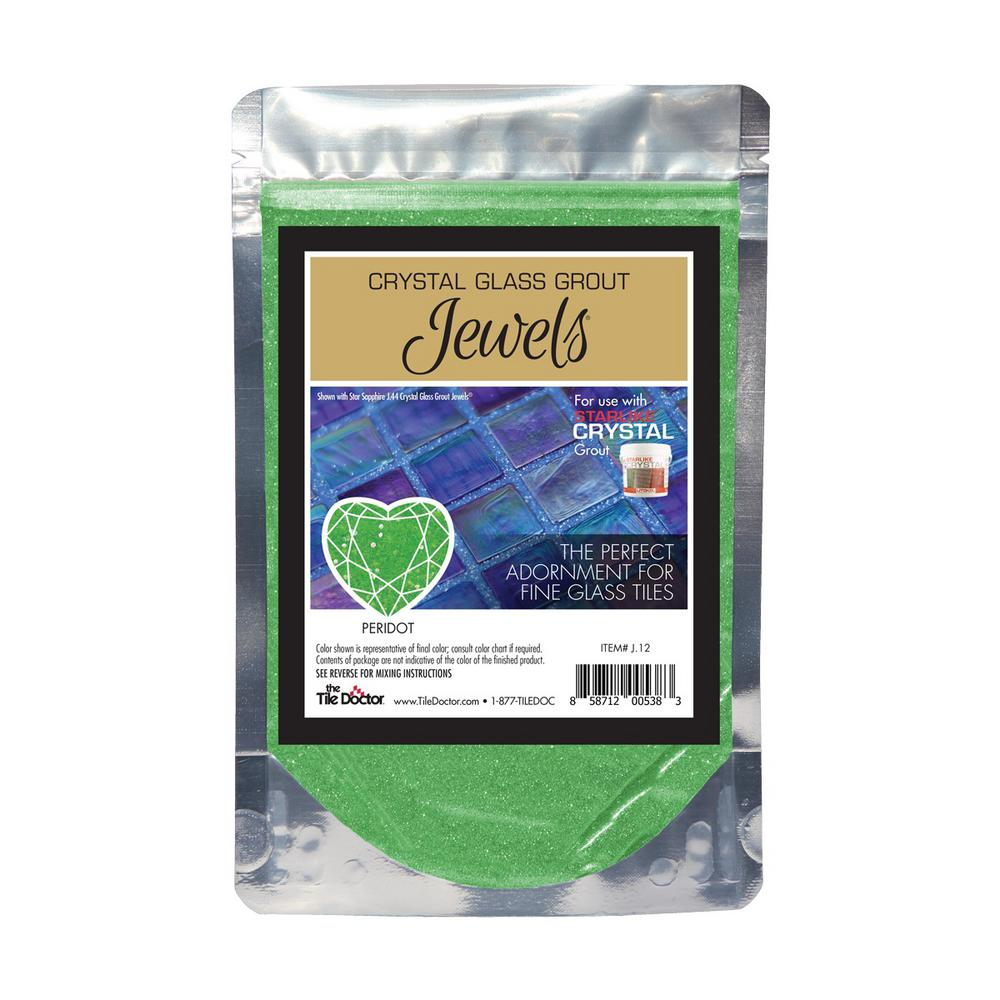 The Tile Doctor Crystal Glass Jewels Peridot Additive J12 The