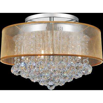 Radiant 9-Light Chrome Semi-Flush Mount