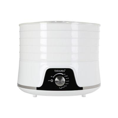 5-Tray White Food Dehydrator with Removable Lid