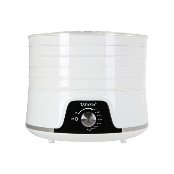 Tayama 5-Tray White Food Dehydrator with Removable Lid