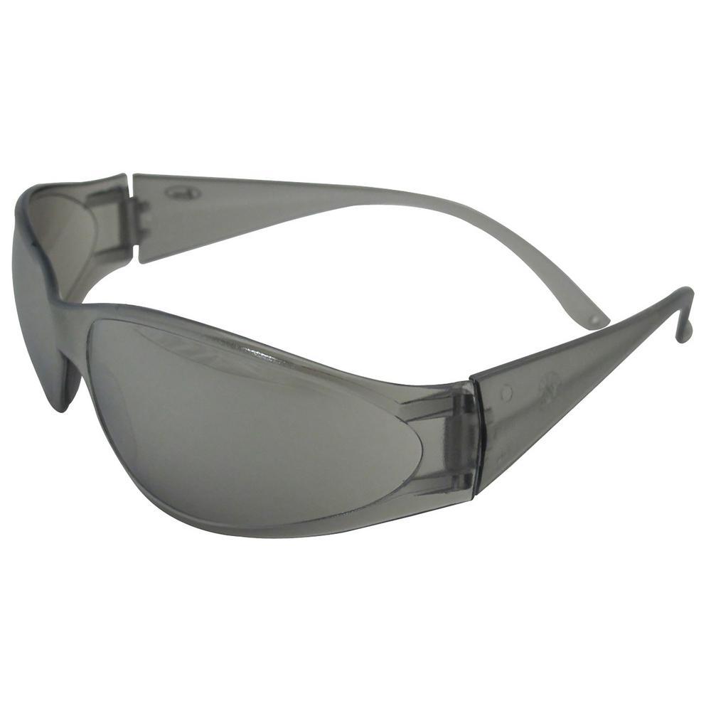 Boas Original Eye Protection Gray Temple/Frame and Silver Mirror Lens