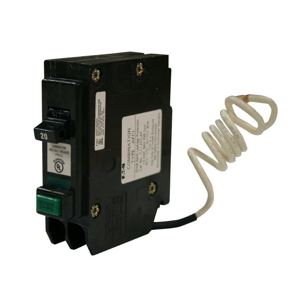 Eaton CL 20 Amp Single-Pole Combination Arc Fault-Circuit Breaker