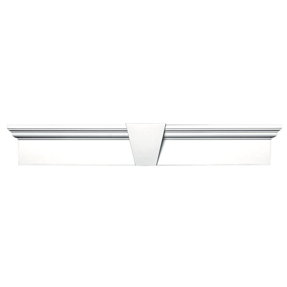 6 in. x 37-5/8 in. Flat Panel Window Header with Keystone
