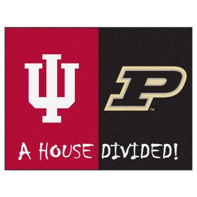 NCAA Indiana/Purdue House Divided 3 ft. x 4 ft. Area Rug