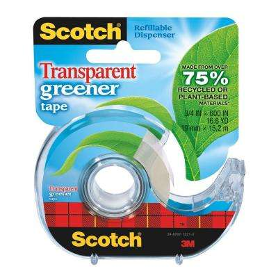 Scotch 3/4 in. x 16.6 yds. Transparent Greener Tape (Case of 144)