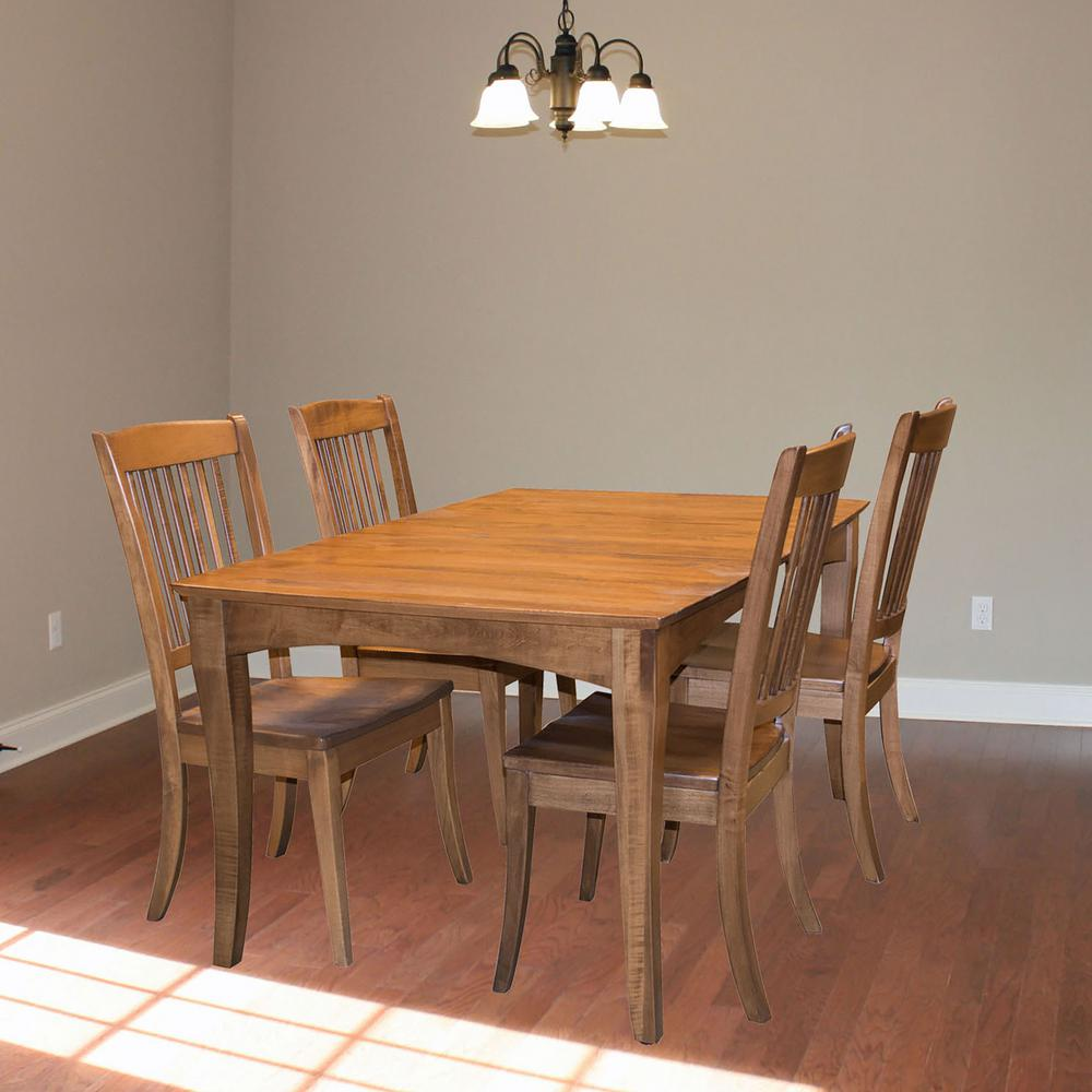 Maple Hardwood Dining Set With Table