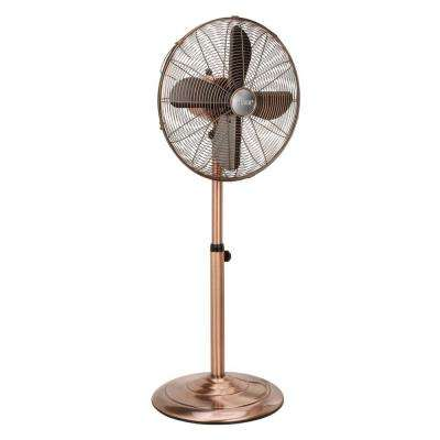 Adjustable-Height 16 in. Pedestal Fan Copper