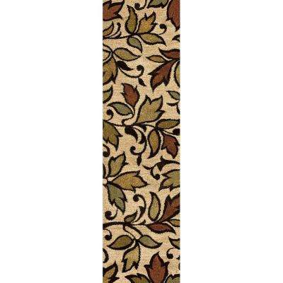 Island Beige 2 ft. x 8 ft. Indoor Runner Rug