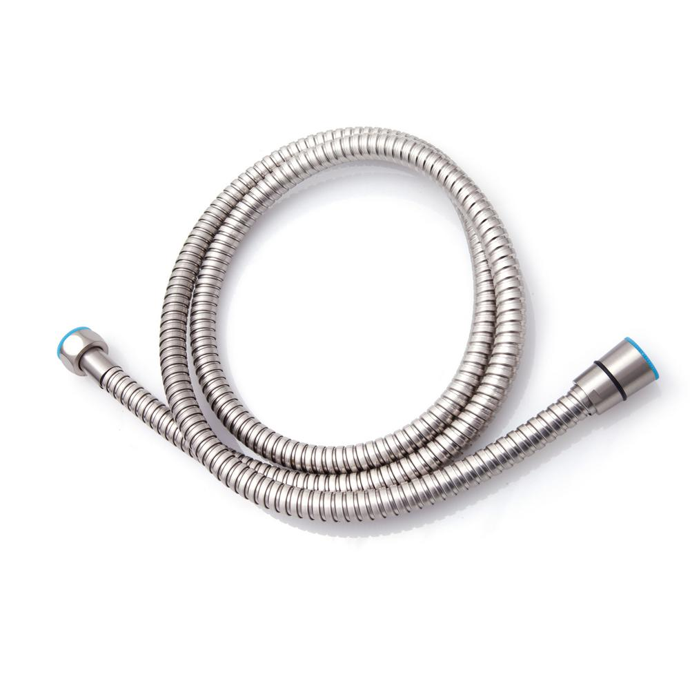 59 in. Stainless Steel Replacement Shower Hose in Nickel