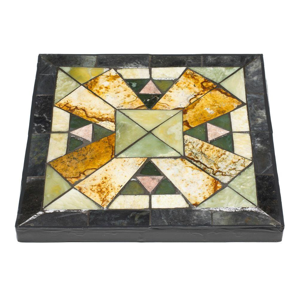 Outdoor Essentials 12 in. Square Tiffany Jade Geo Garden Stone