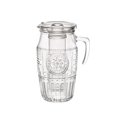 60.75 oz. Romantic Clear Glass Carafe with Ice Tube Lid