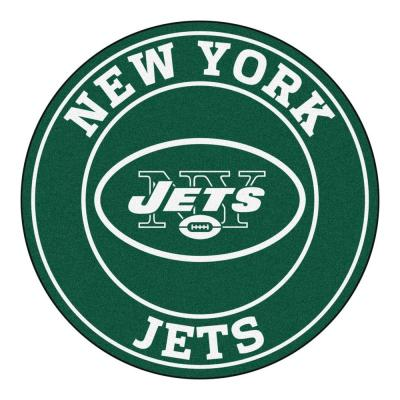 NFL New York Jets Green 2 ft. x 2 ft. Round Area Rug