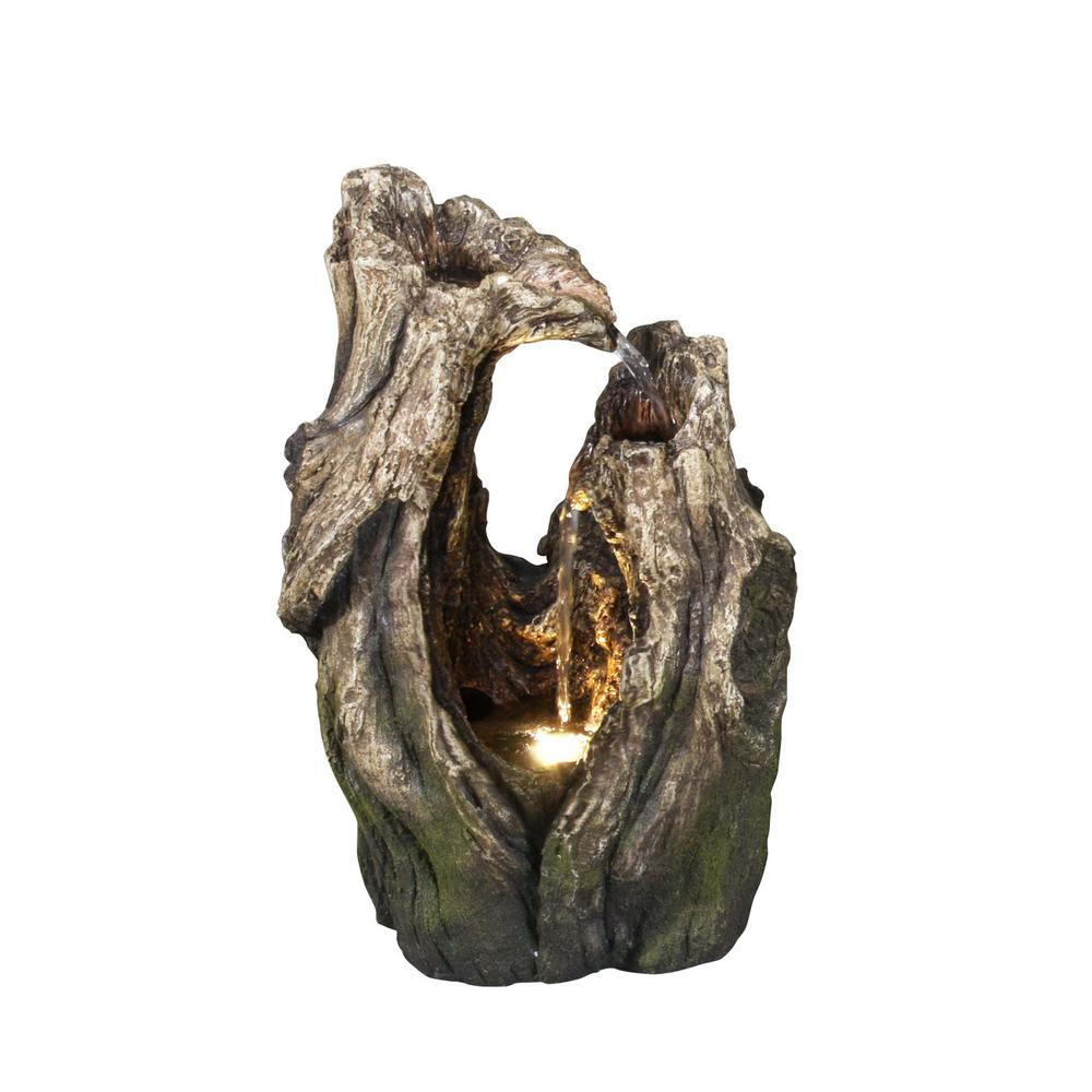 Hi-Line Gift Tree Trunk with LED Fountain