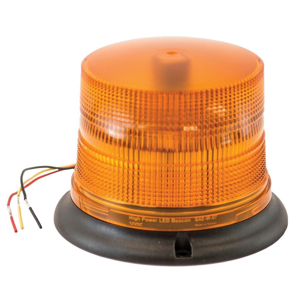 Strobe Lights For Trucks >> Buyers Products Company Amber Led Permanent Mount Strobe Light