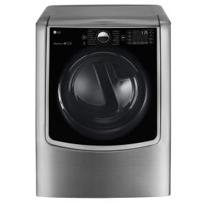 9.0 cu. ft. Large Smart Front Load Electric Dryer w/ TurboSteam, Pedestal Compatible & Wi-Fi Enabled in Graphite Steel
