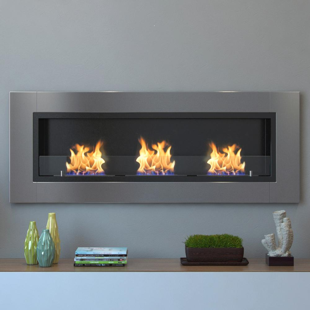 Bring creative design to your living room by adding this long lasting Moda Flame Devant Recessed Wall Mounted Ethanol Fireplace in Stainless Steel.