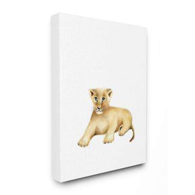"""16 in. x 20 in. """"Painted Lion Cub Single Animal"""" by Studio Q Printed Canvas Wall Art"""