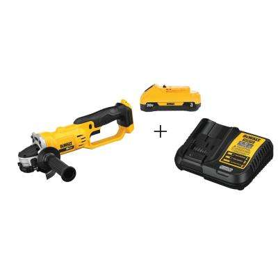 20-Volt MAX Lithium-Ion Cordless 4-1/2 in. Grinder with 3.0 Ah Free Compact Battery Pack