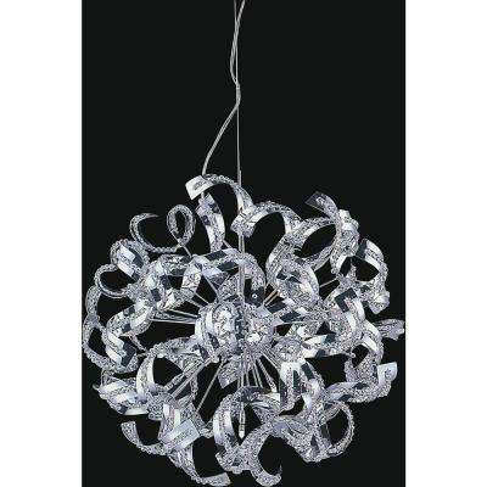 Swivel 12-light Chrome chandelier