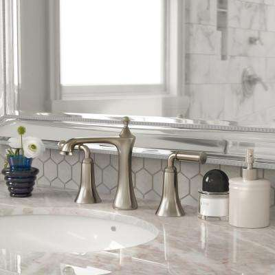 8 in. Widespread 2-Handle Bathroom Faucet in Brushed Nickel with Pop-Up Drain