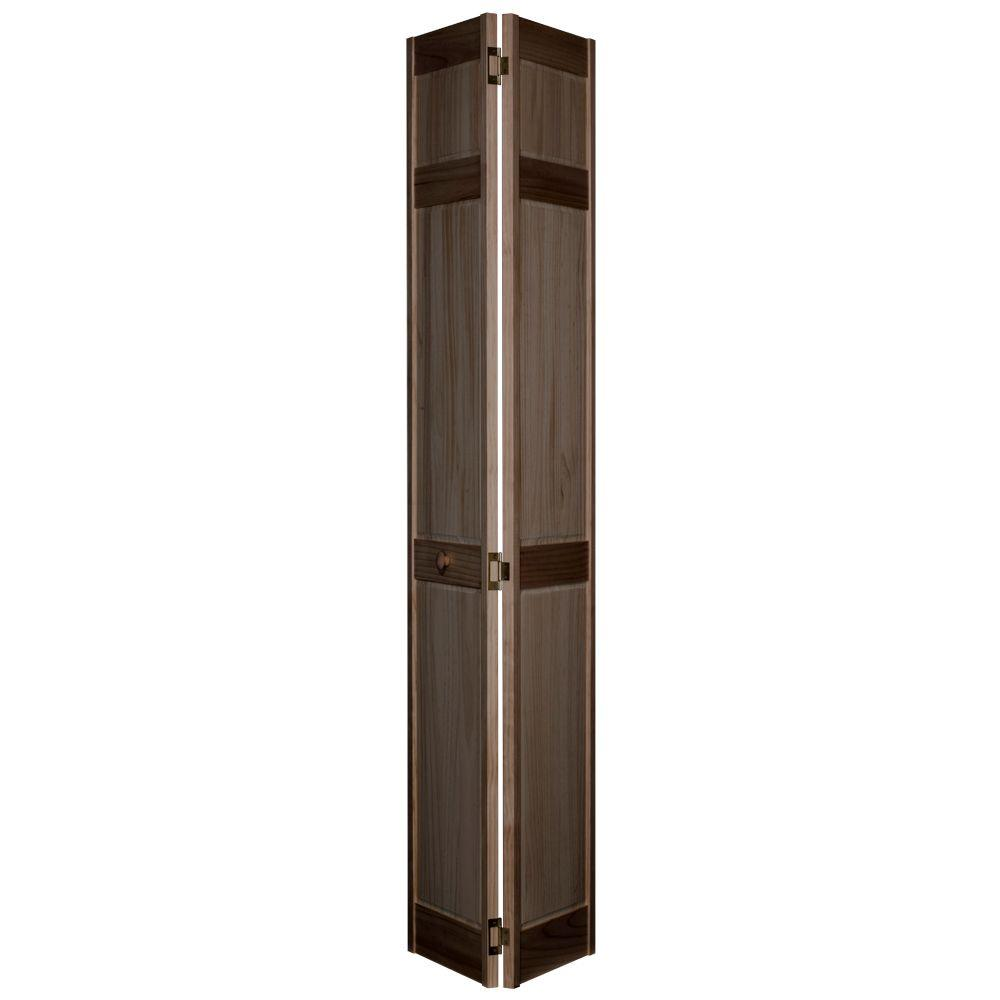 32 in. x 80 in. 6-Panel MinWax Dark Walnut Solid Wood