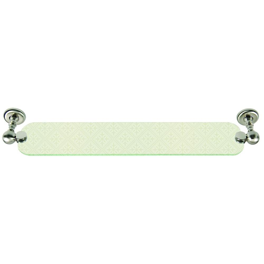 Atlas Homewares Emma Collection 23-1/10 in. Wall-Mounted Shelf in Brushed Nickel-DISCONTINUED
