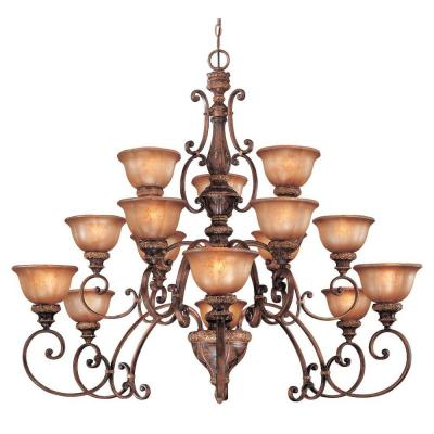 Illuminati 15-Light Illuminati Bronze Chandelier