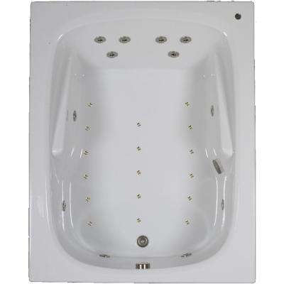 60 in. Acrylic Rectangular Drop-in Combination Bathtub in White