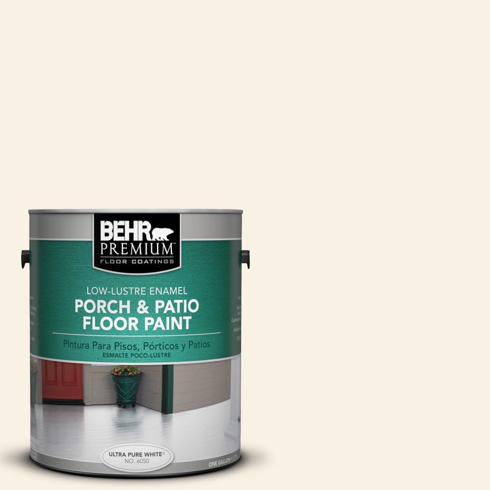 BEHR Premium 1 gal. #PWN-12 Palatial White Low-Lustre Interior/Exterior Porch and Patio Floor Paint