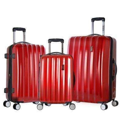 04ec508b07 Titan 3-Piece Expandable Polycarbonate 8-Wheel Spinner Set with Mesh Pocket