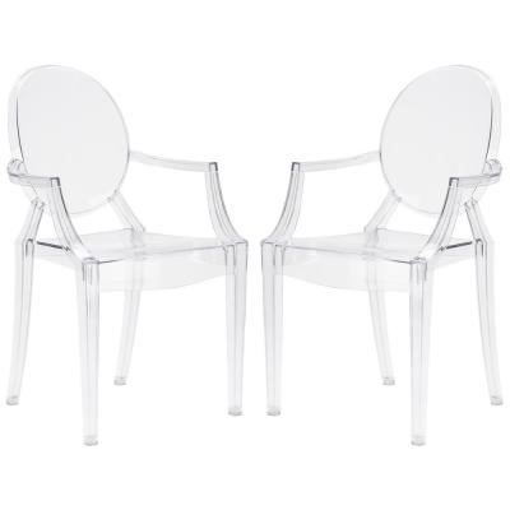 Burton Clear Arm Chair (Set of 2)