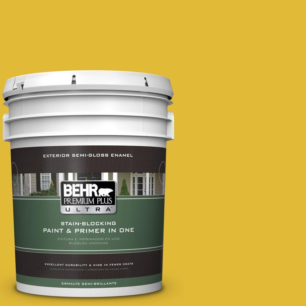 BEHR Premium Plus Ultra 5-gal. #P310-7 Solarium Semi-Gloss Enamel Exterior Paint