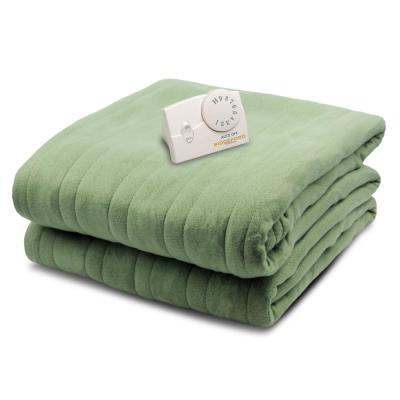 1000 Series Comfort Knit Heated 62 in. x 84 in. Sage Twin Size Blanket