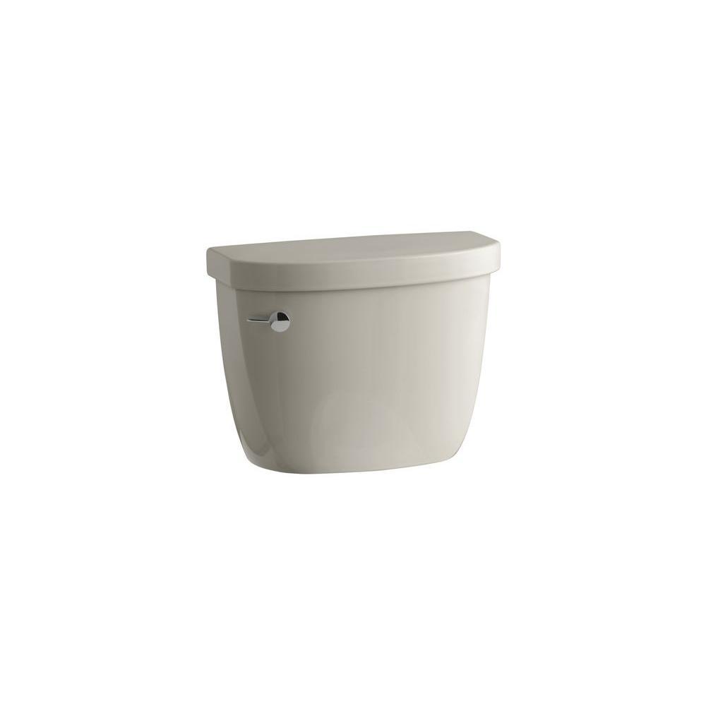 KOHLER Cimarron 1.6 GPF Toilet Tank Only with AquaPiston Flushing Technology in Sandbar