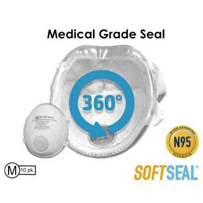 Silicon Molded M N95 Certified Respirator with CoolTech Valve (10-Pack)