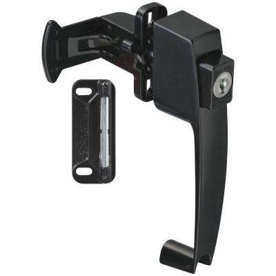 1-3/4 in. Black Push Button Latch