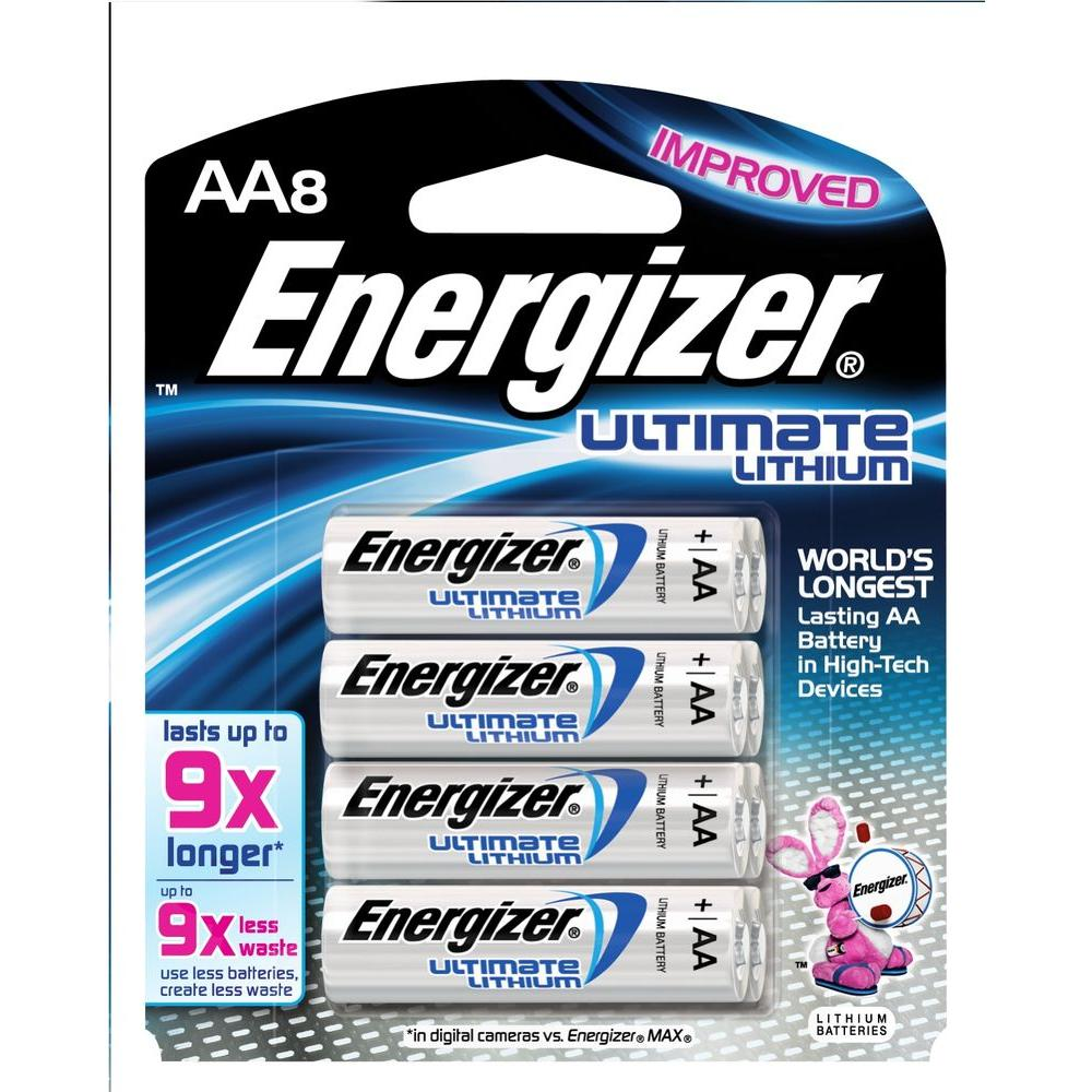 Energizer Ultimate Lithium AA Battery (8-Pack)