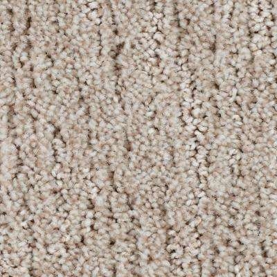 Carpet Sample - Chester - Color Victorian Beige Textured 8 in. x 8 in.