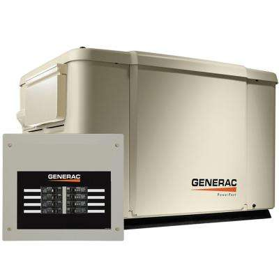 Generac 7,500-Watt (LP)/6,000-Watt (NG) Air Cooled Standby Generator with 8 Circuit 50 Amp Automatic Transfer Switch