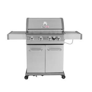 Royal Gourmet Luxury 4-Burner Propane Gas Grill in Stainless Steel with Searing Side Burner by Royal Gourmet